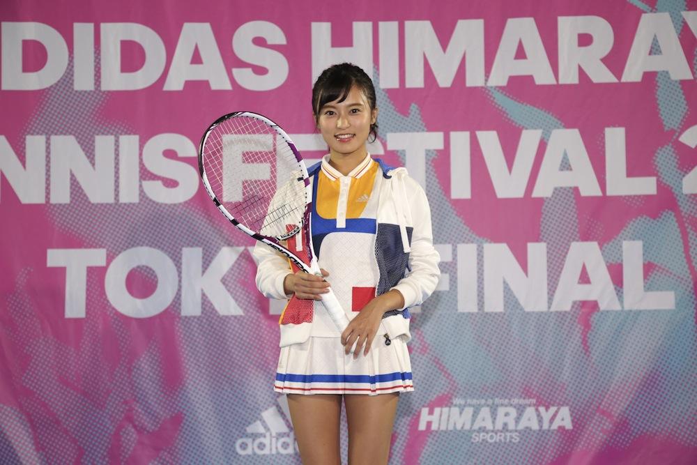小島瑠璃子、テニスウェア姿でプロ選手とラリーチャレンジ!ADIDAS HIMARAYA TENNIS FESTIVAL 2017 TOKYO FINAL
