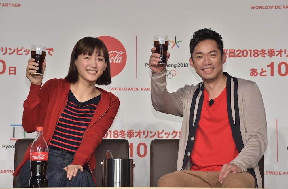 綾瀬はるか、髙橋大輔とスケートリンクで氷上の初共演 コカコーラ