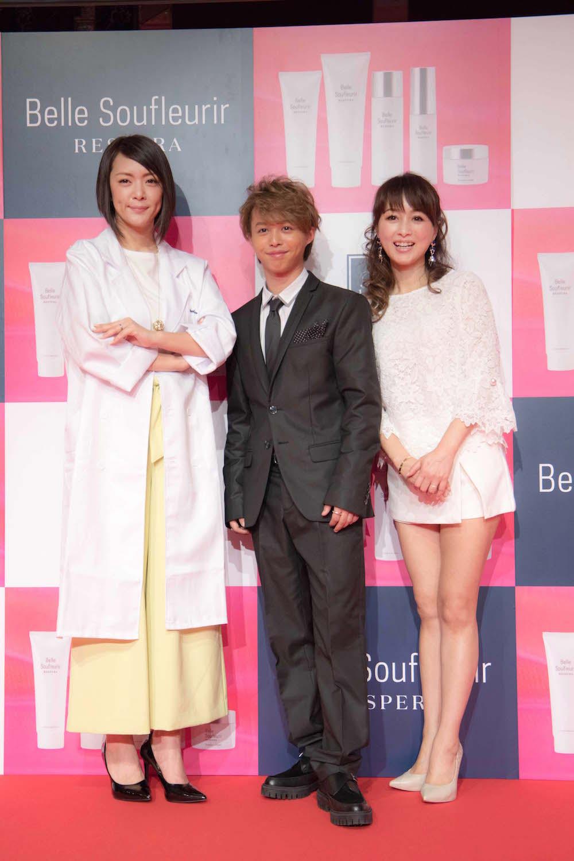 渡辺美奈代、息子の矢島愛弥、みかん @新製品ベル スフリール発表会