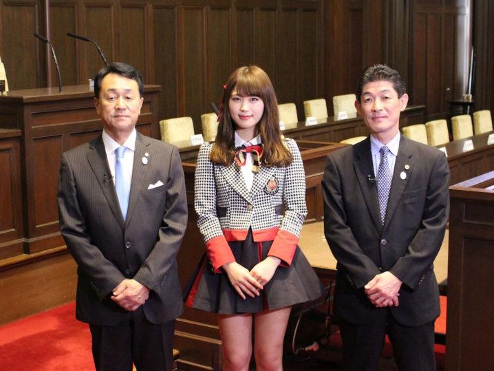NMB48、大阪府議会議員にインタビュー!大好きな大阪について発信!