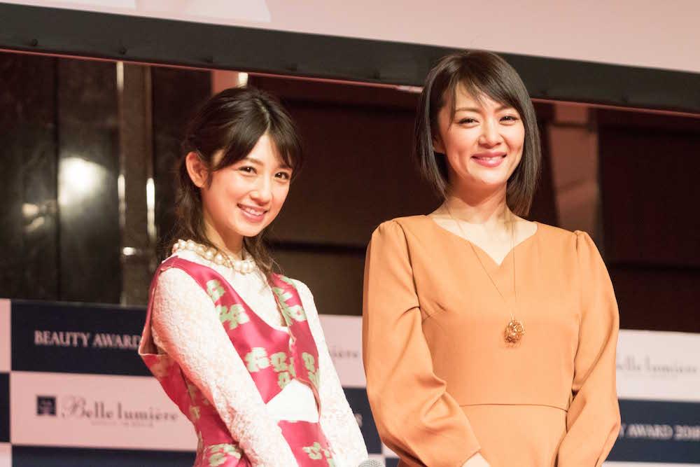 小倉優子(人気ママタレント)&みかん(ものまねタレント) @ベル ルミエールビューティアワード2018