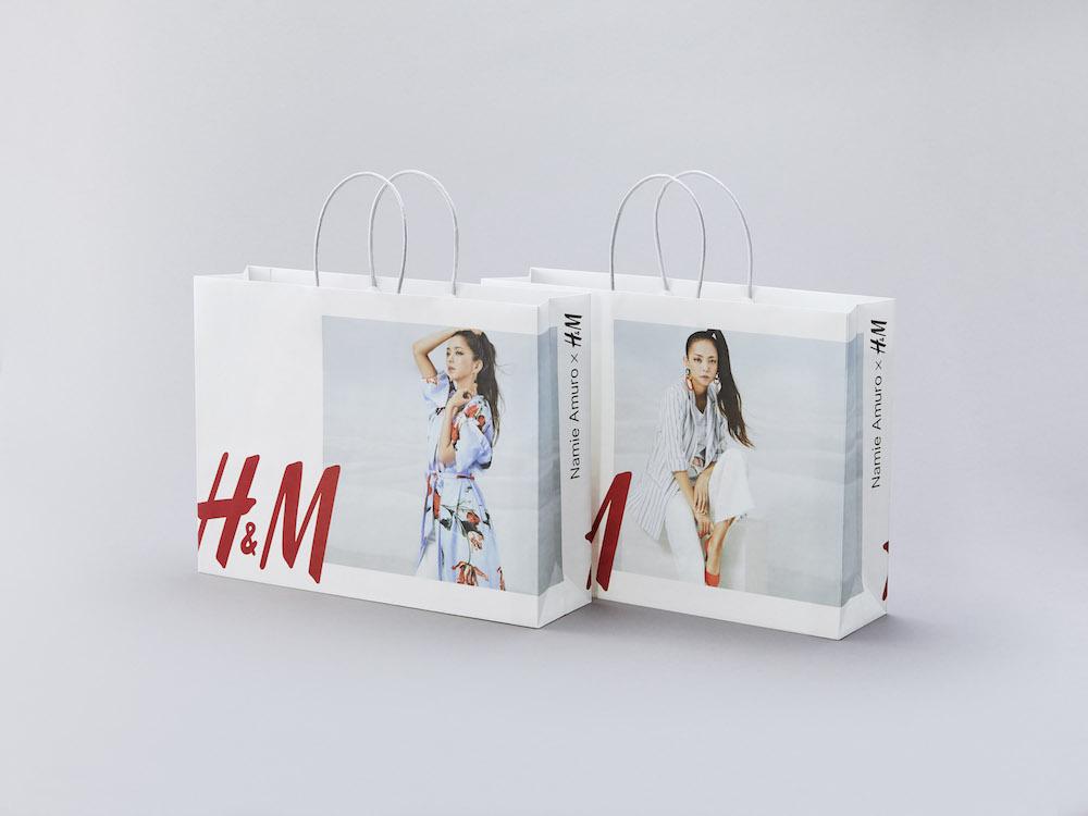 安室奈美恵、H&Mとスペシャルコラボレーション ショッピングバッグ