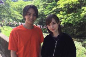 Seventeenモデル・マーシュ彩、オオカミくん共演のイケメンモデルとの2ショット