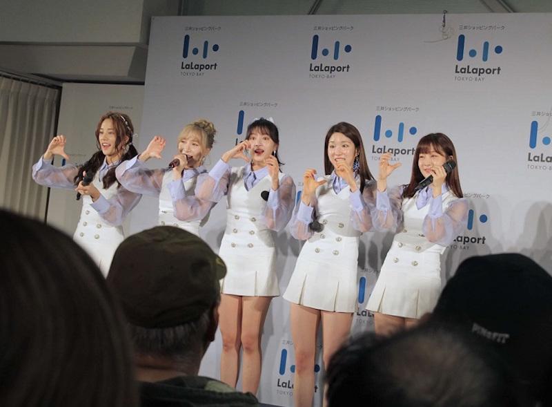 LABOUM(ラブーム)・ららぽーとTOKYO-BAY中央広場のステージでのイベント(2018年11月7日)