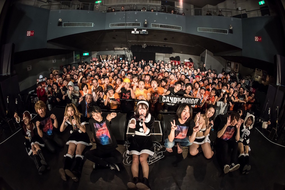 CANDY GO!GO!/2018年12月25日、クリスマスの夜に開催したTSUTAYA O-WESTでのライブにて。