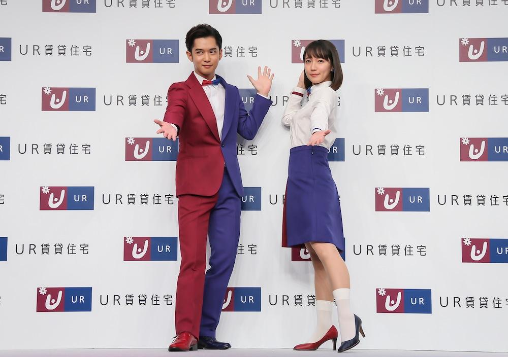 吉岡里帆・千葉雄大/UR新CM発表会にて(2018年12月12日・東京都内)