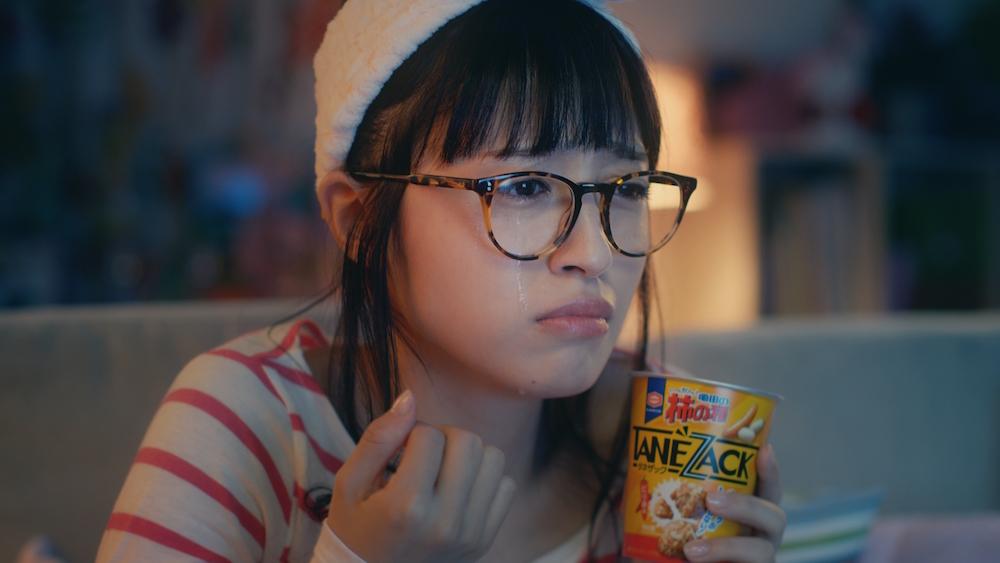 逢田梨香子(あいだ りかこ)「亀田の柿の種 タネザック のり塩」CM