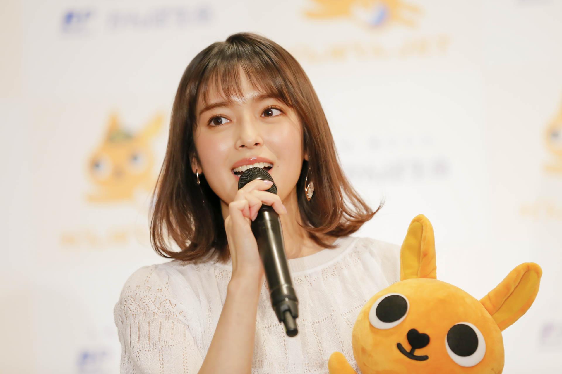 矢作穂香/「かんぽくんJET就航式イベント」にて(2019年1月10日)