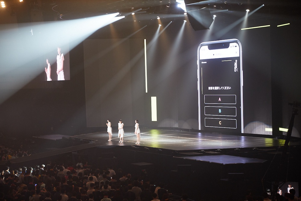 docomo×Perfume 新体感のエンタテインメントイベント「FUTURE-EXPERIMENT VOL.04 その瞬間を共有せよ。」2018年12月31日