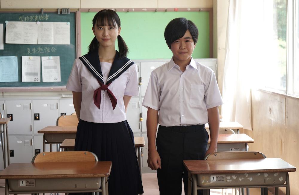 松井玲奈と鈴木福/ドラマ「名古屋行き最終列車」の第7弾