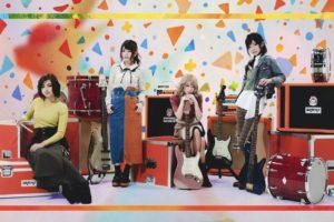 エルフリーデ(ガールズロックバンド)最新ヴジュアル/左から、ゆーやん(Drums).みくる(Vocal).山吹りょう(Guitar).星野李奈(Bass)