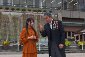 村上弘明・志田友美/ドラマ「偉人局」より