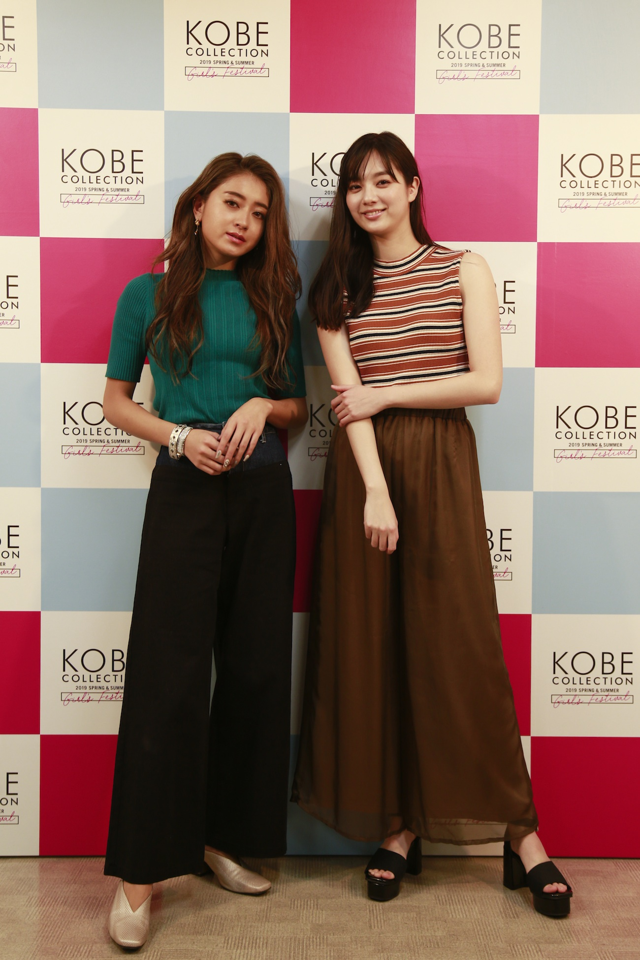 池田美優&新川優愛/神戸コレクション 2019SSでの囲み取材