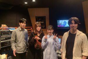 左から、白玉雅己(Tama)、バイオリニスト天野恵、高田夏帆、中村タイチ(Tamaと共に編曲に参加)