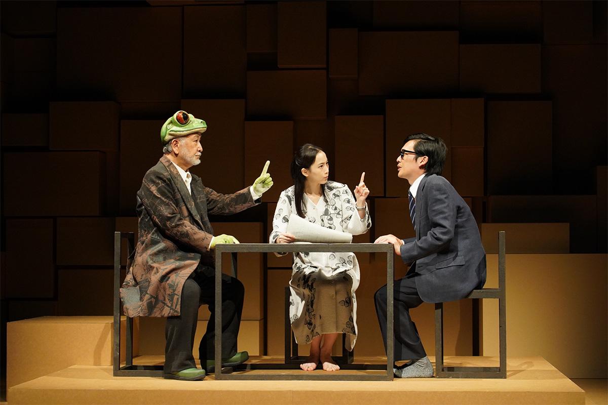左より)木場勝己、 松井玲奈、 川口 覚 提供:ホリプロ