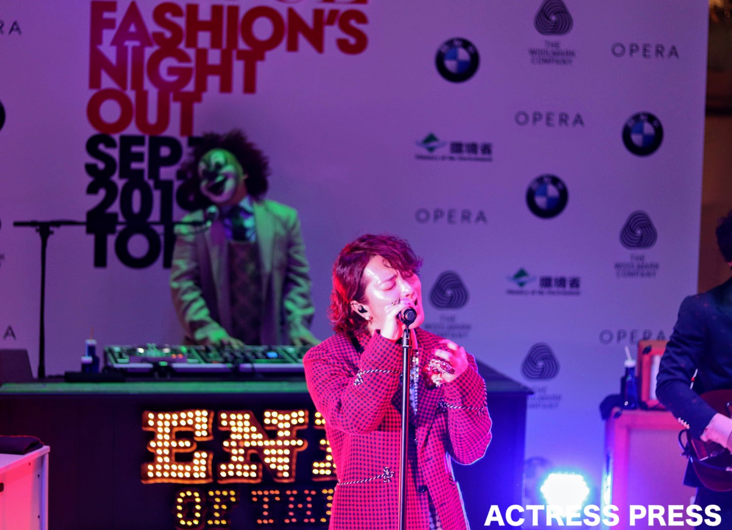 SEKAI NO OWARI/「VOGUE FASHION'S NIGHT OUT 2019」セレモニーにて(撮影:ACTRESS PRESS編集部)