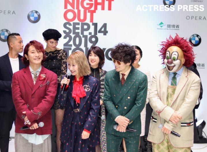 SEKAI NO OWARI/「VOGUE FASHION'S NIGHT OUT 2019」セレモニーにて(撮影:ACTRESS PRESS編集部)