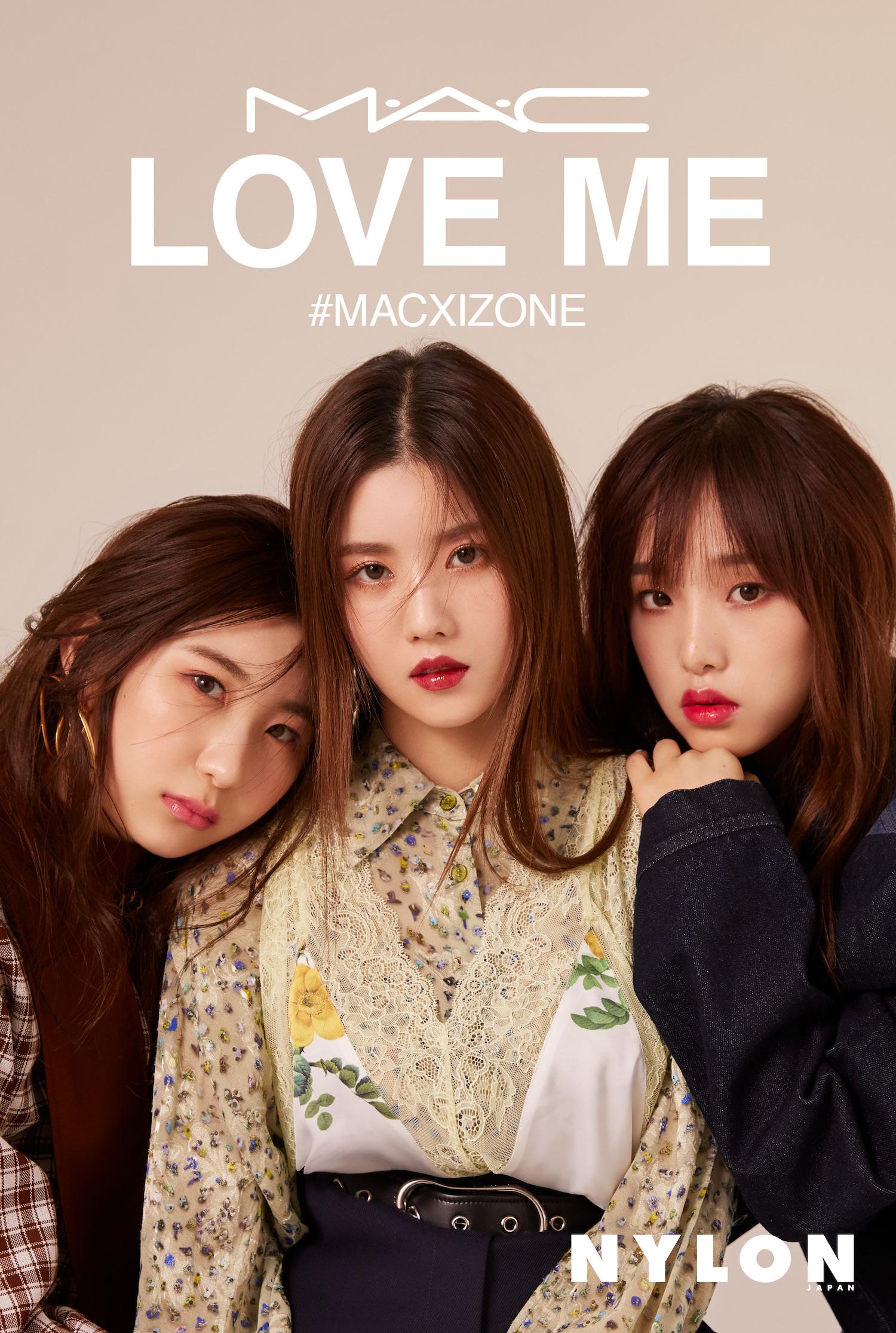 IZ*ONEが纏うM·A·Cの新作リップスティック[LOVE ME LIPSTICK]NYLON JAPANと連動した限定ビジュアル