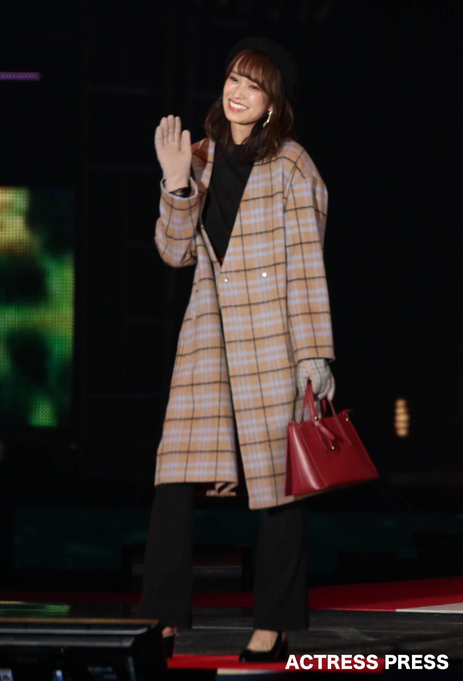 佐々木久美(日向坂46)2019年9月28日、GirlsAward2019AWステージにて。撮影:ACTRESS PRESS編集部
