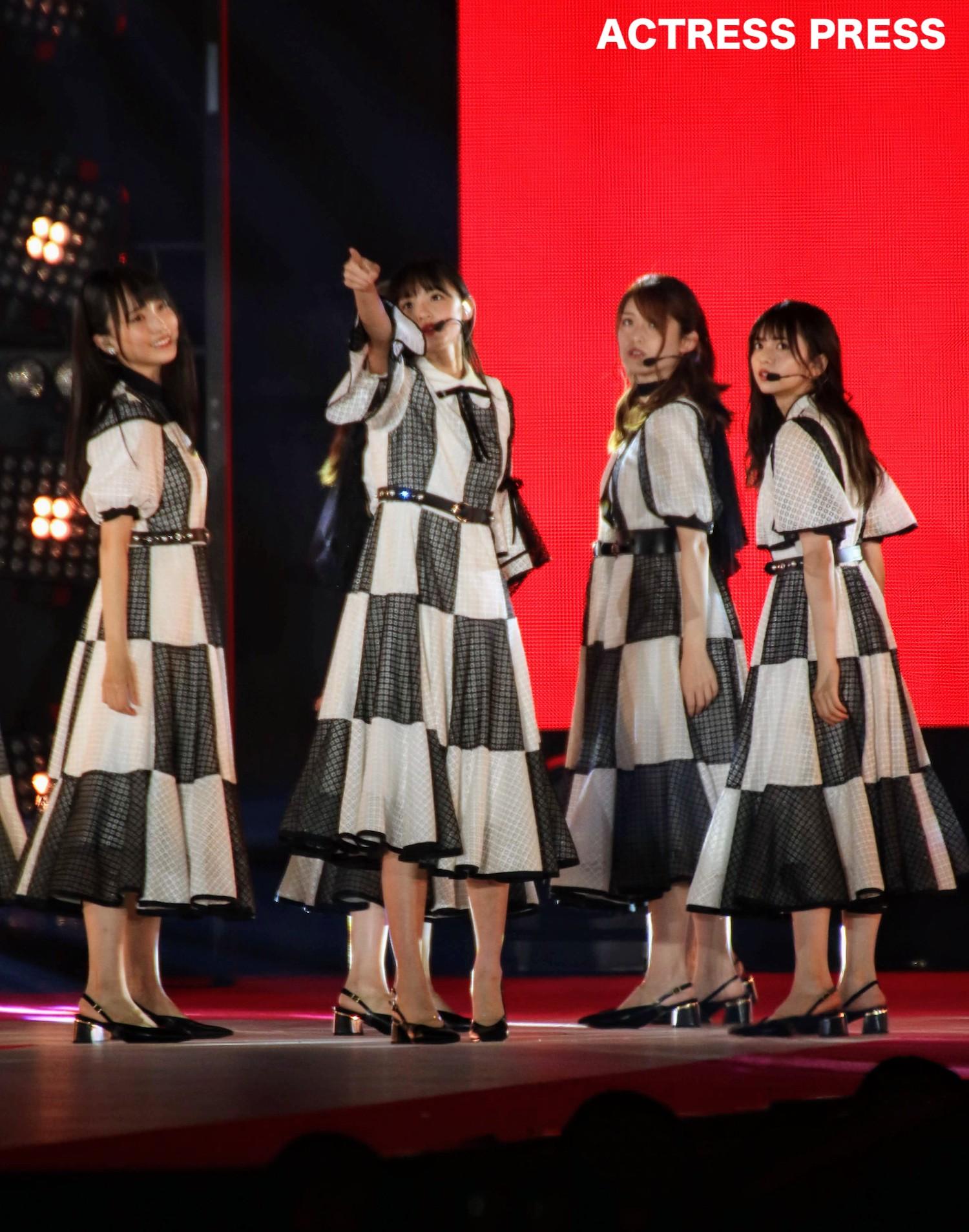 乃木坂46/2019年9月28日、GirlsAward2019AWステージにて。撮影:ACTRESS PRESS編集部