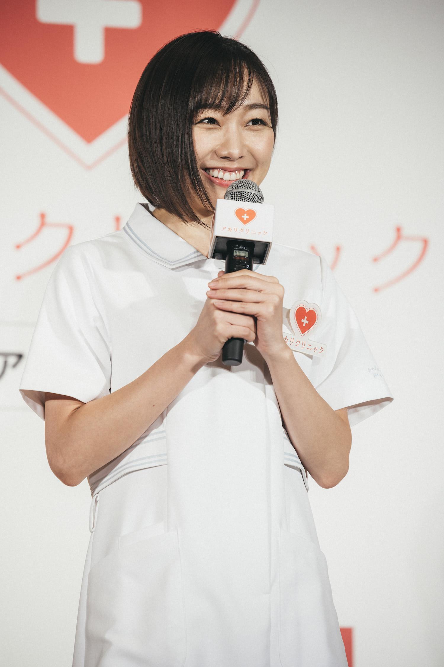 須田亜香里(SKE48)「ニッポンおじさん総活躍社会プロジェクト発足式」(2019年10月21日)