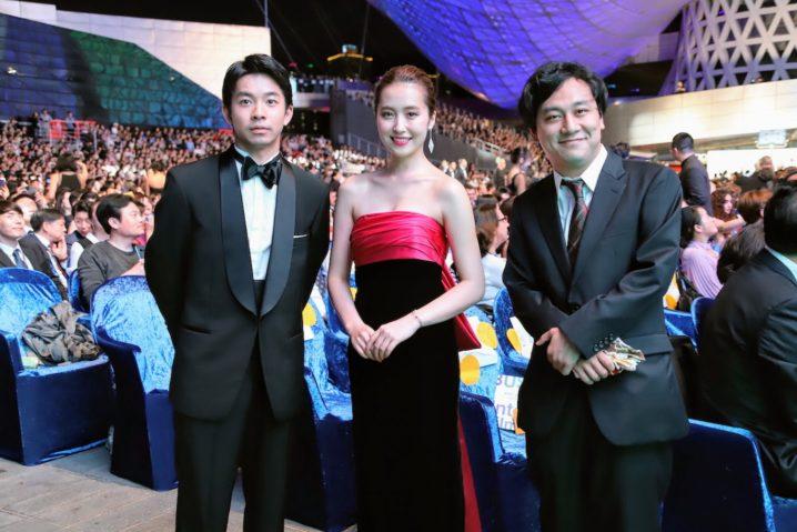 衛藤美彩、仲野太賀、中川龍太郎監督と共に第24回釜山国際映画祭 レッドカーペットに登場