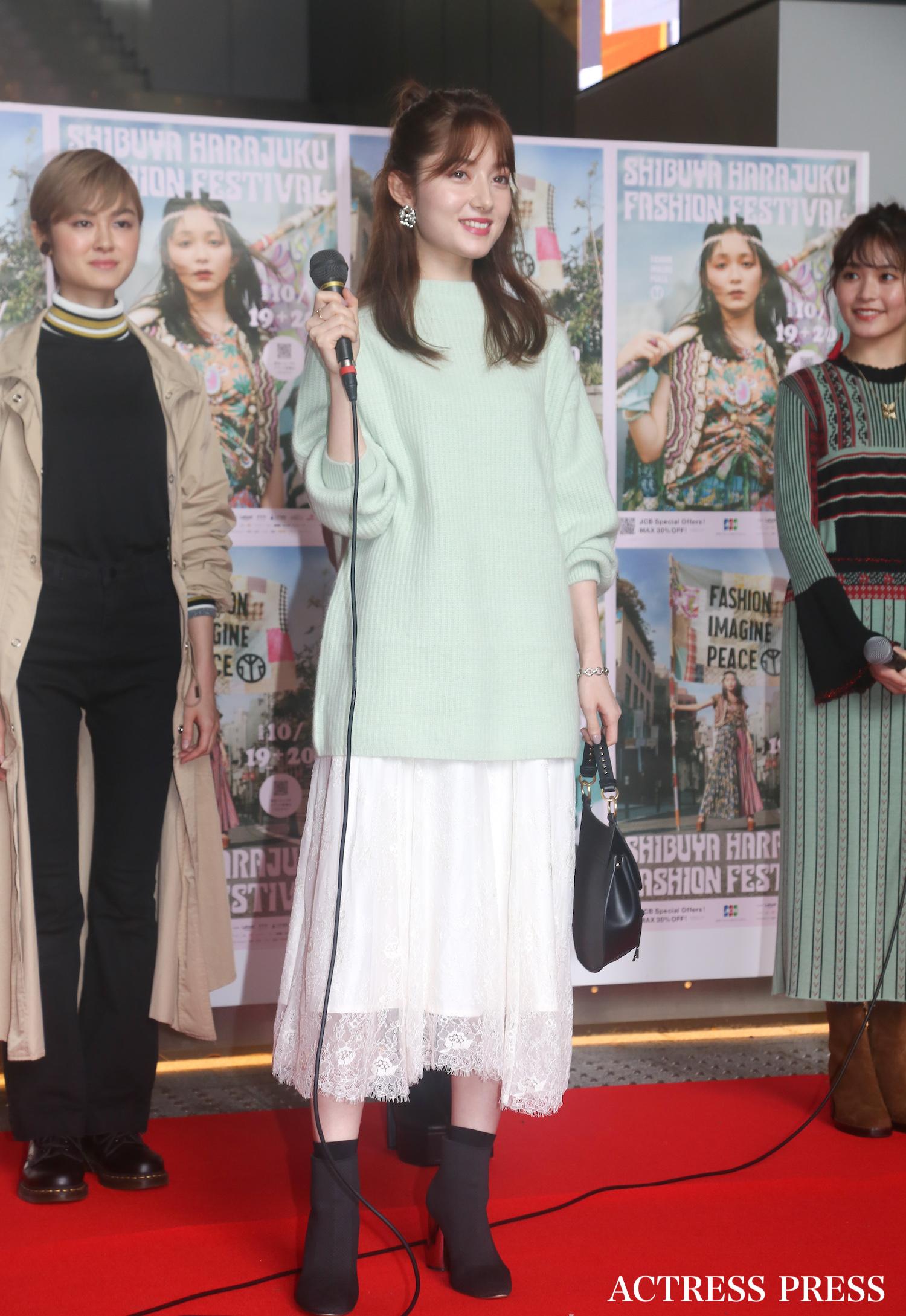 ティファニー春香/2019年10月19日、SHIBUYA HARAJUKU FASHION FESTIVAL/撮影:ACTRESS PRESS編集部