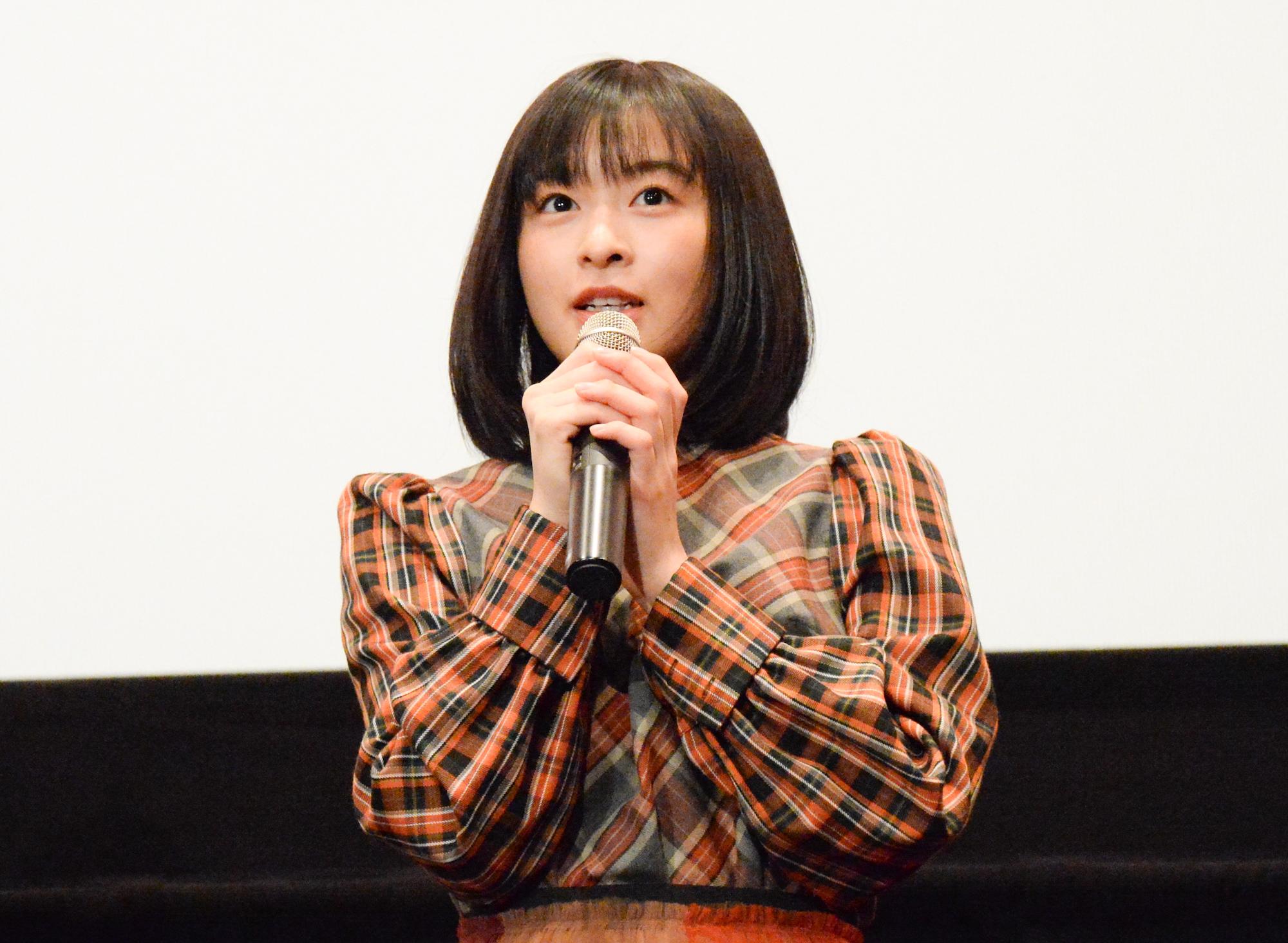 森七菜/映画『地獄少女』公開記念舞台挨拶(2019年11月16日、東京・新宿バルト9にて)