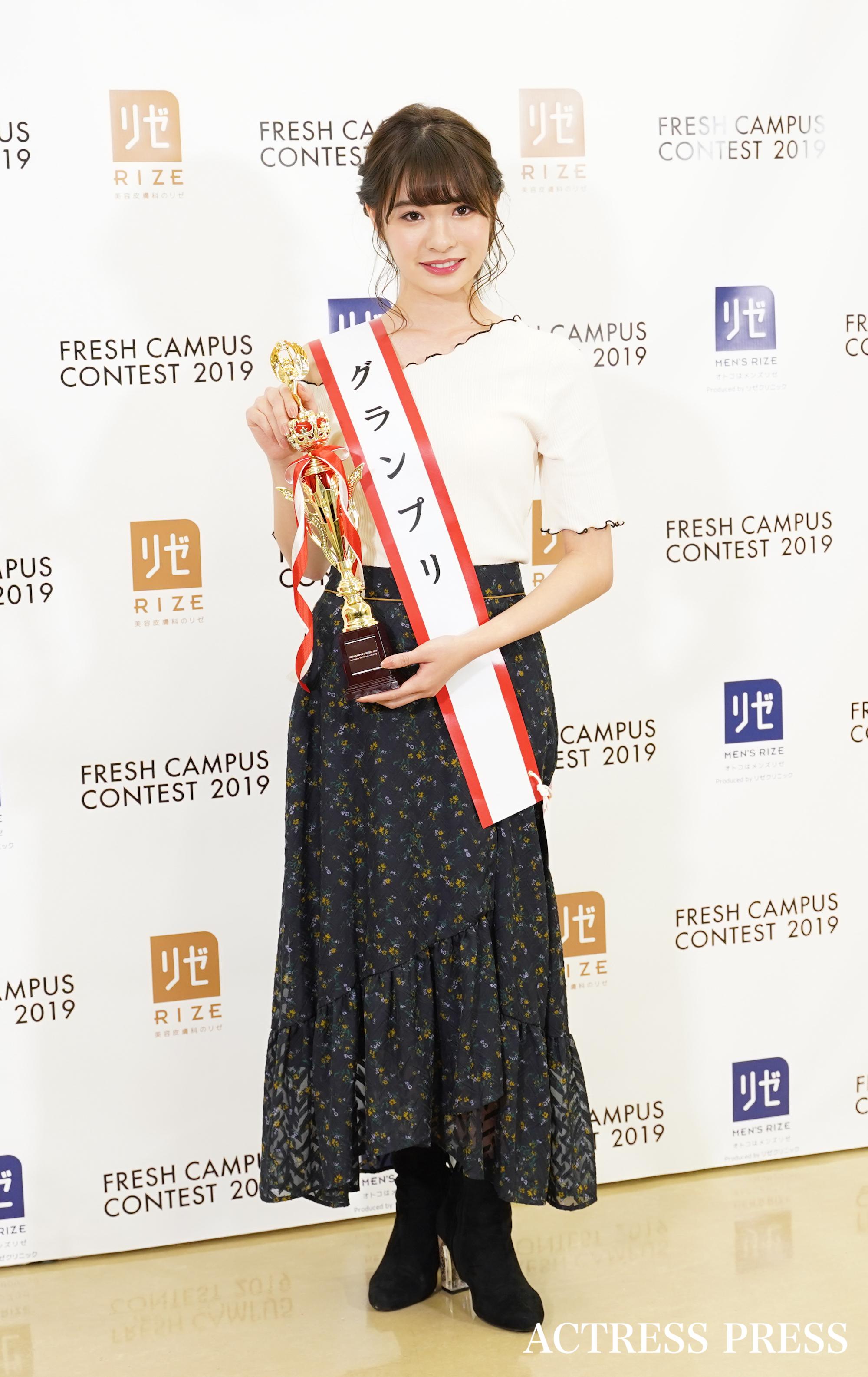 中川紅葉/「FRESH CAMPUS CONTEST 2019」グランプリ・準グランプリ(2019年11月17日)/撮影:ACTRESS PRESS編集部