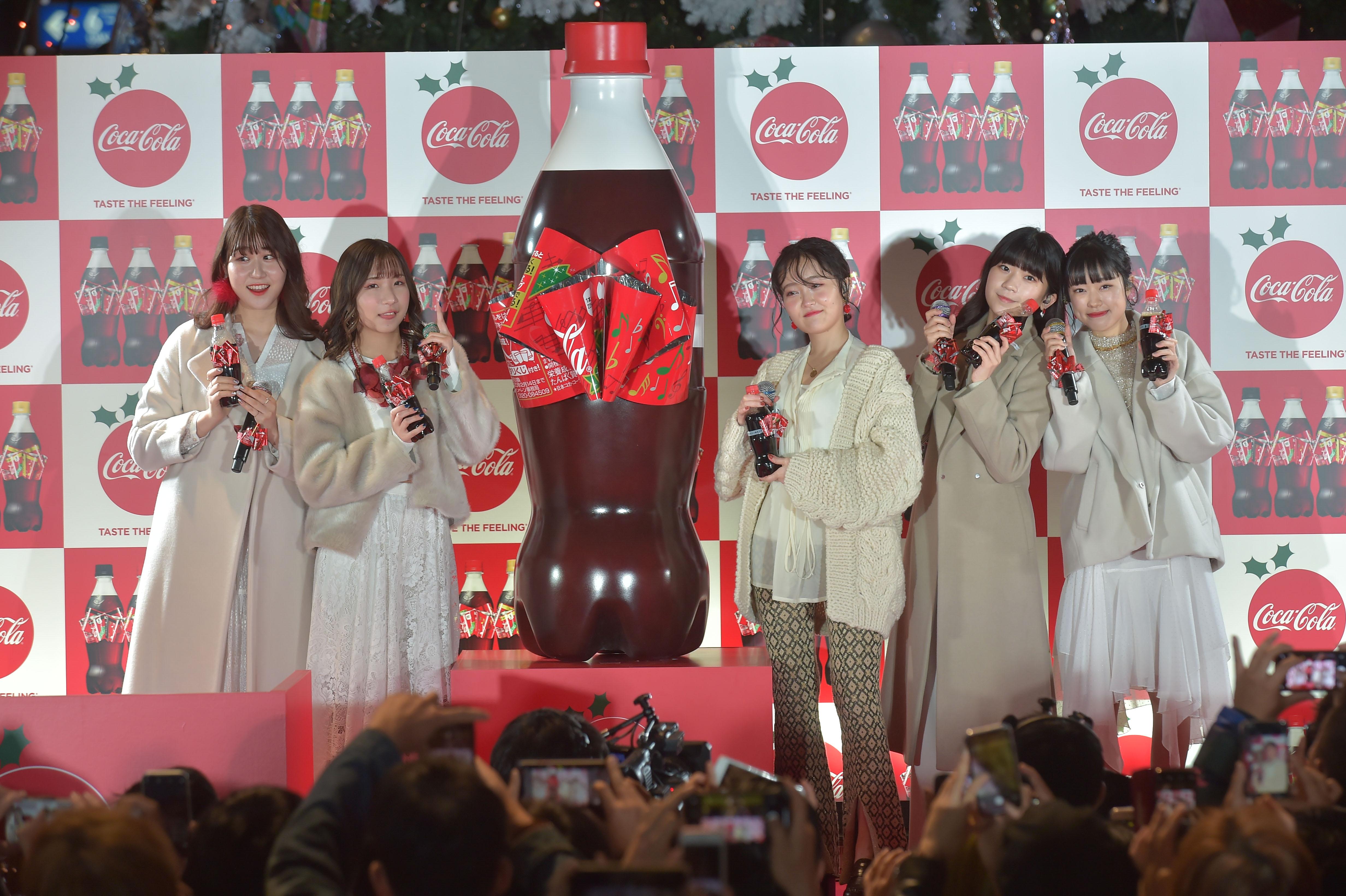 Little Glee Monster/2019年11月19日、二子玉川ライズ ガレリアにて開催された「コカ・コーラ」のイベントにて。