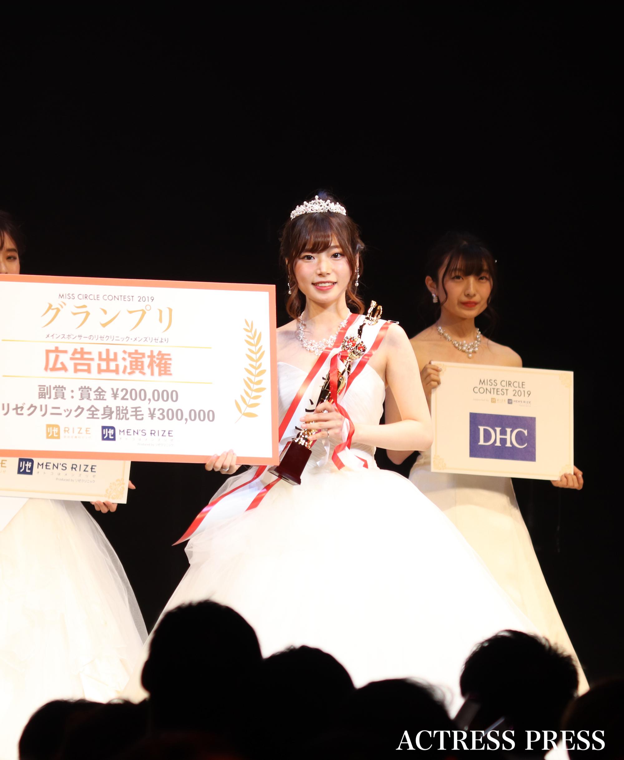 「MISS CIRCLE CONTEST 2019」(ミスサークルコンテスト)受賞者(グランプリ:黒川さくら(くろかわ・さくら)(C)ACTRESS PRESS編集部