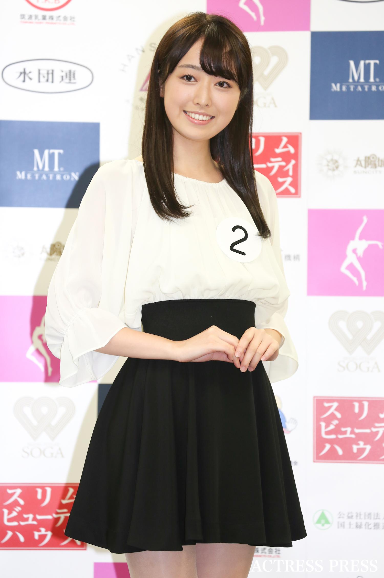 小田安珠/2019年12月2日、「ミス日本コンテスト2020」にて/撮影:ACTRESS PRESS編集部