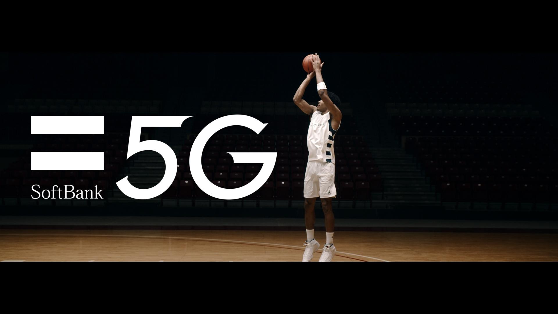 八村塁選手/「SoftBank 5G」の新テレビCM「5G 予告」篇