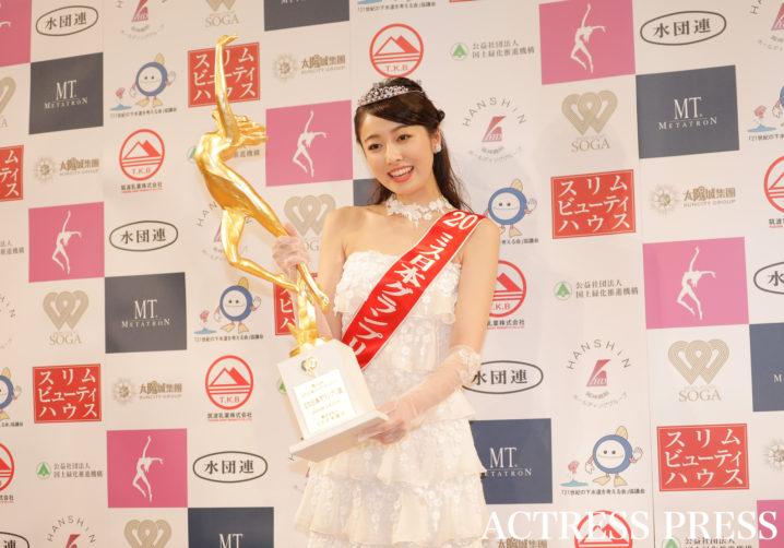 小田安珠/2020年1月20日(月)、『第52回ミス日本コンテスト2020』にて/撮影:ACTRESS PRESS編集部