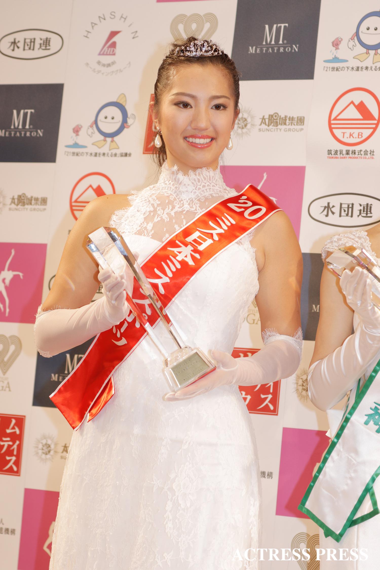 田中 絵梨果/2020年1月20日(月)、『第52回ミス日本コンテスト2020』にて/撮影:ACTRESS PRESS編集部