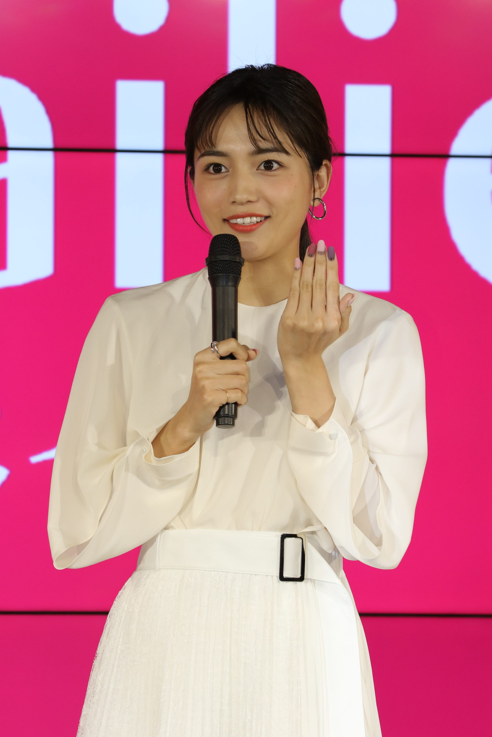 川口春奈/2020年1月29日、東京都内で開催された、「Nailie(ネイリー)」新CM発表会にて