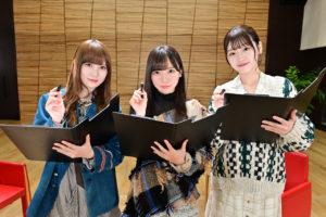 左より:加藤史帆、 齊藤京子、 佐々木美玲(日向坂46)
