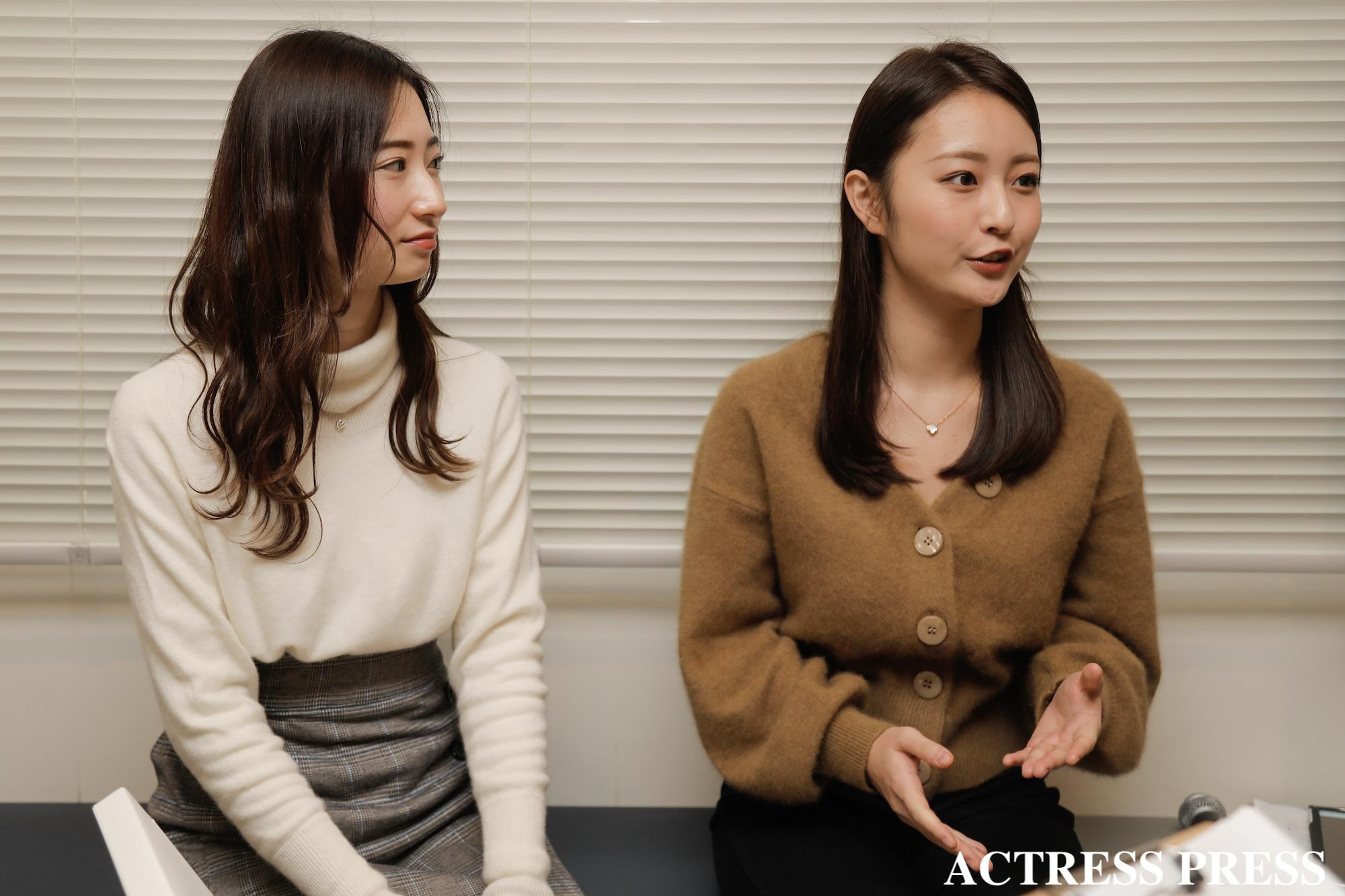 竹内彩花、赤木希/2020年1月16日/撮影:ACTRESS PRESS編集部