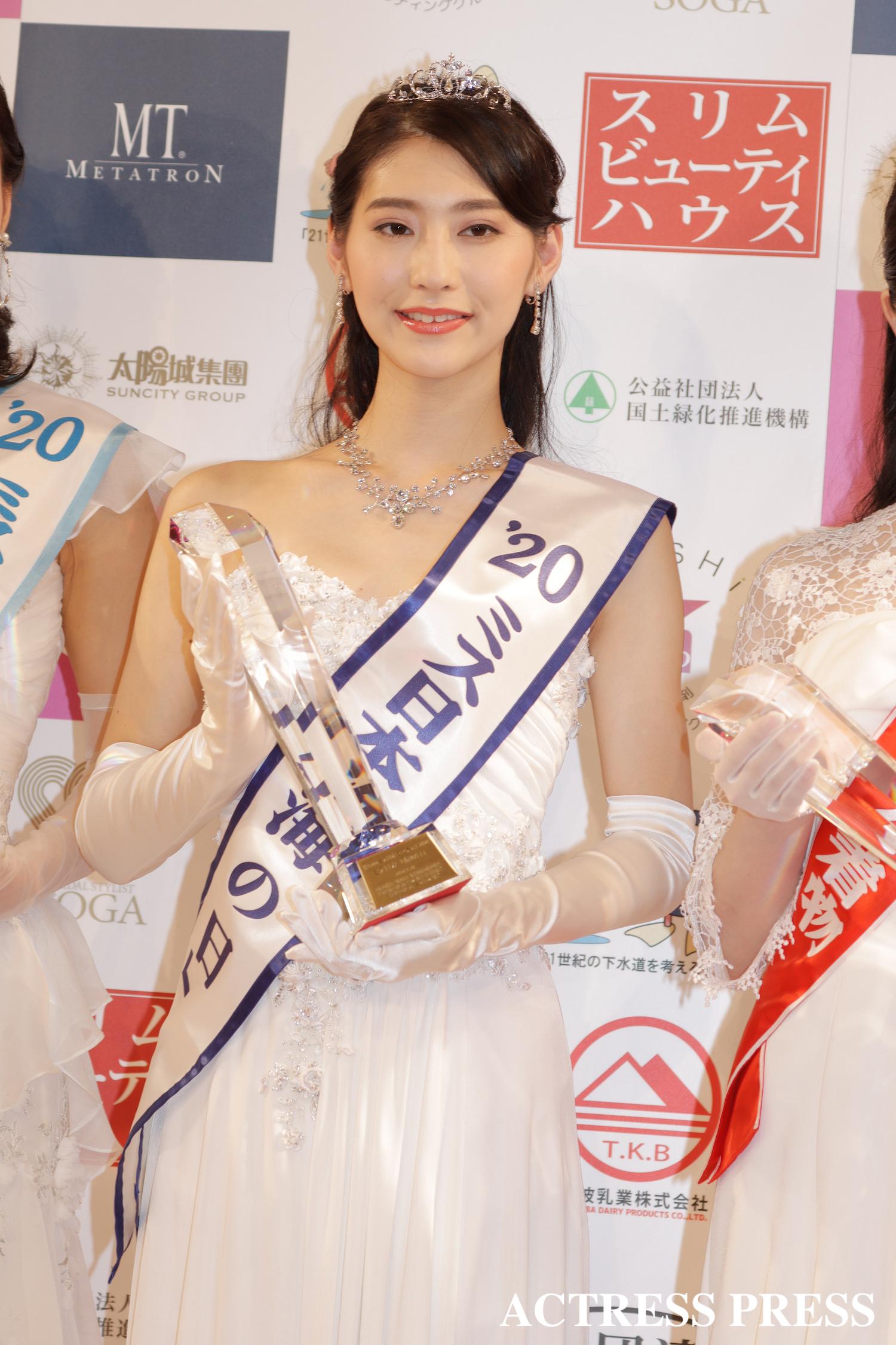 森谷 美雲/2020年1月20日(月)、『第52回ミス日本コンテスト2020』にて/撮影:ACTRESS PRESS編集部