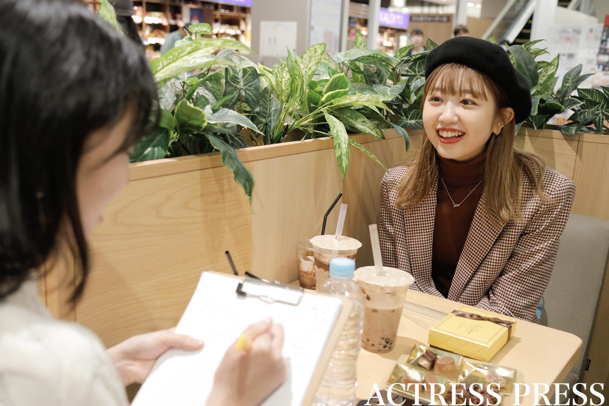 碓井玲菜/2020年1月24日、イトーヨーカドー葛西店のバレンタインイベントにて/撮影:ACTRESS PRESS編集部