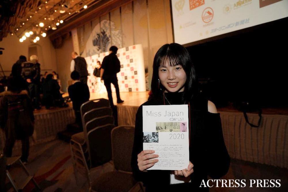 大久保沙菜/2020年1月20日(月)、『第52回ミス日本コンテスト2020』にて/撮影:ACTRESS PRESS編集部