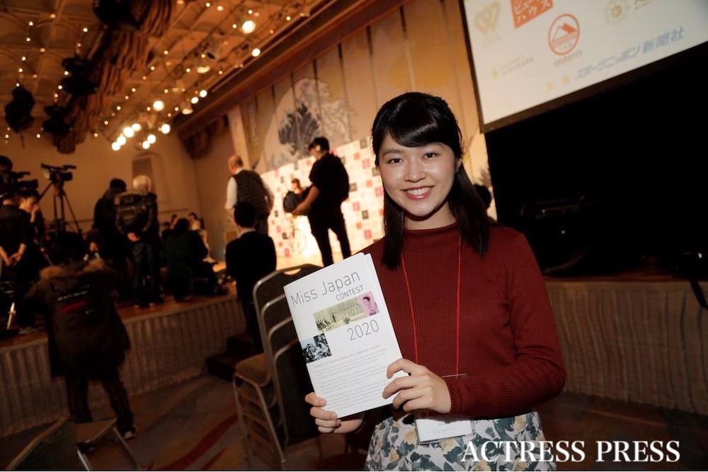 原川朋華/2020年1月20日(月)、『第52回ミス日本コンテスト2020』にて/撮影:ACTRESS PRESS編集部