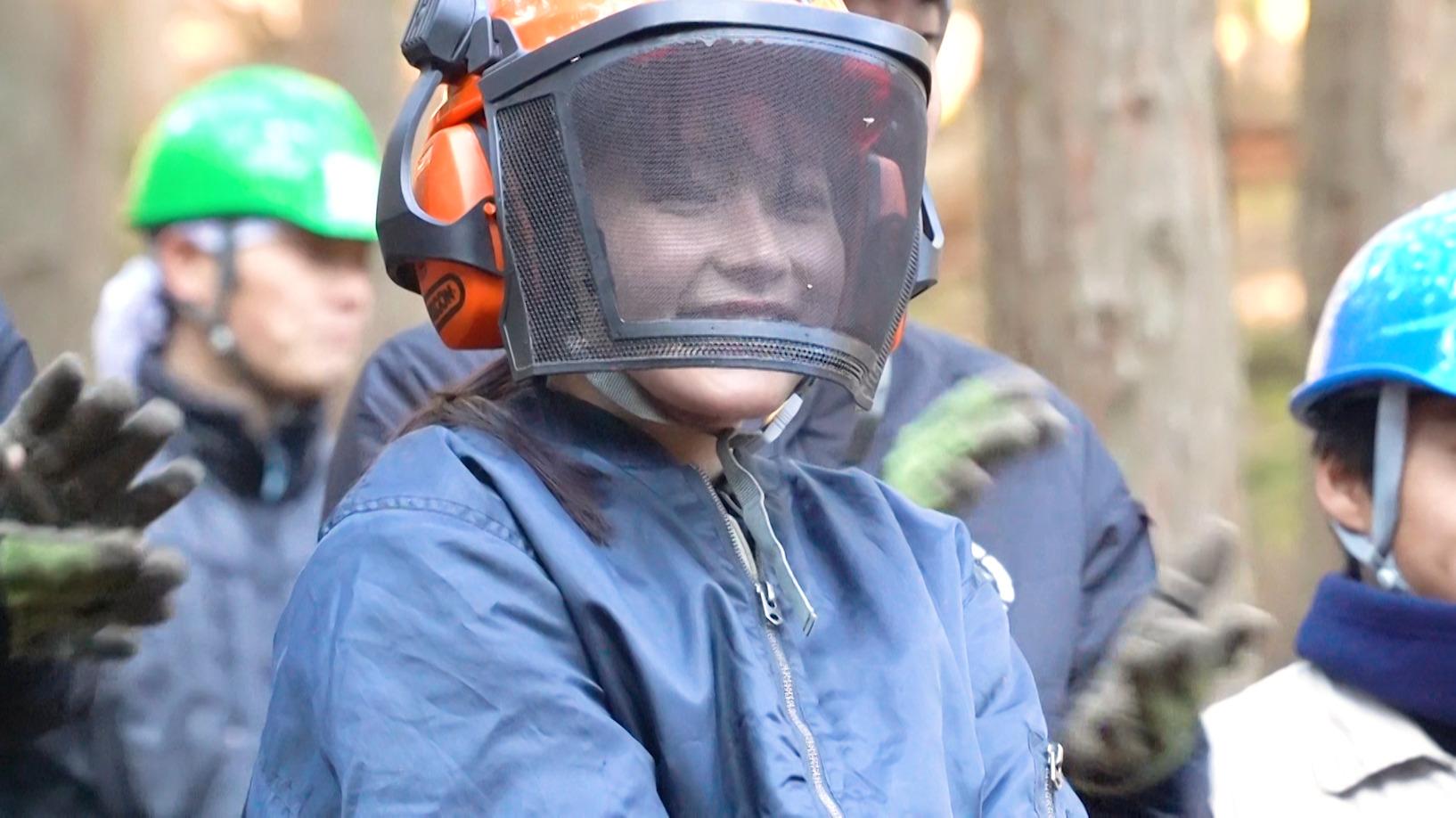 久間田琳加、京都の高校で林業初体験!BACK TO SCHOOL!
