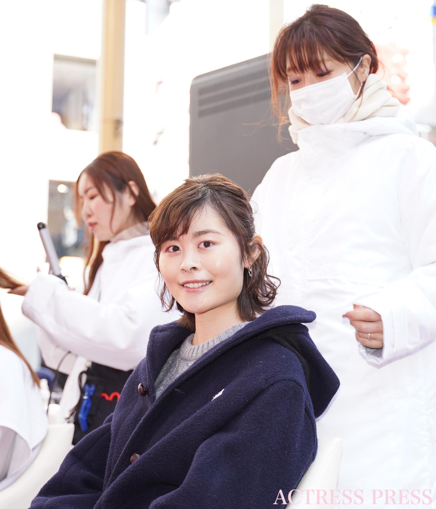 白賀可奈/2020年2月8日(土)、渋谷「109」にて開催された「Matomage Magical Mirror セント・バレンタインの魔法」にて/撮影:ACTRESS PRESS編集部