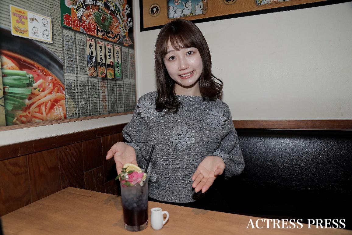 稲永怜奈/赤から 渋谷本店にて/撮影:ACTRESS PRESS編集部