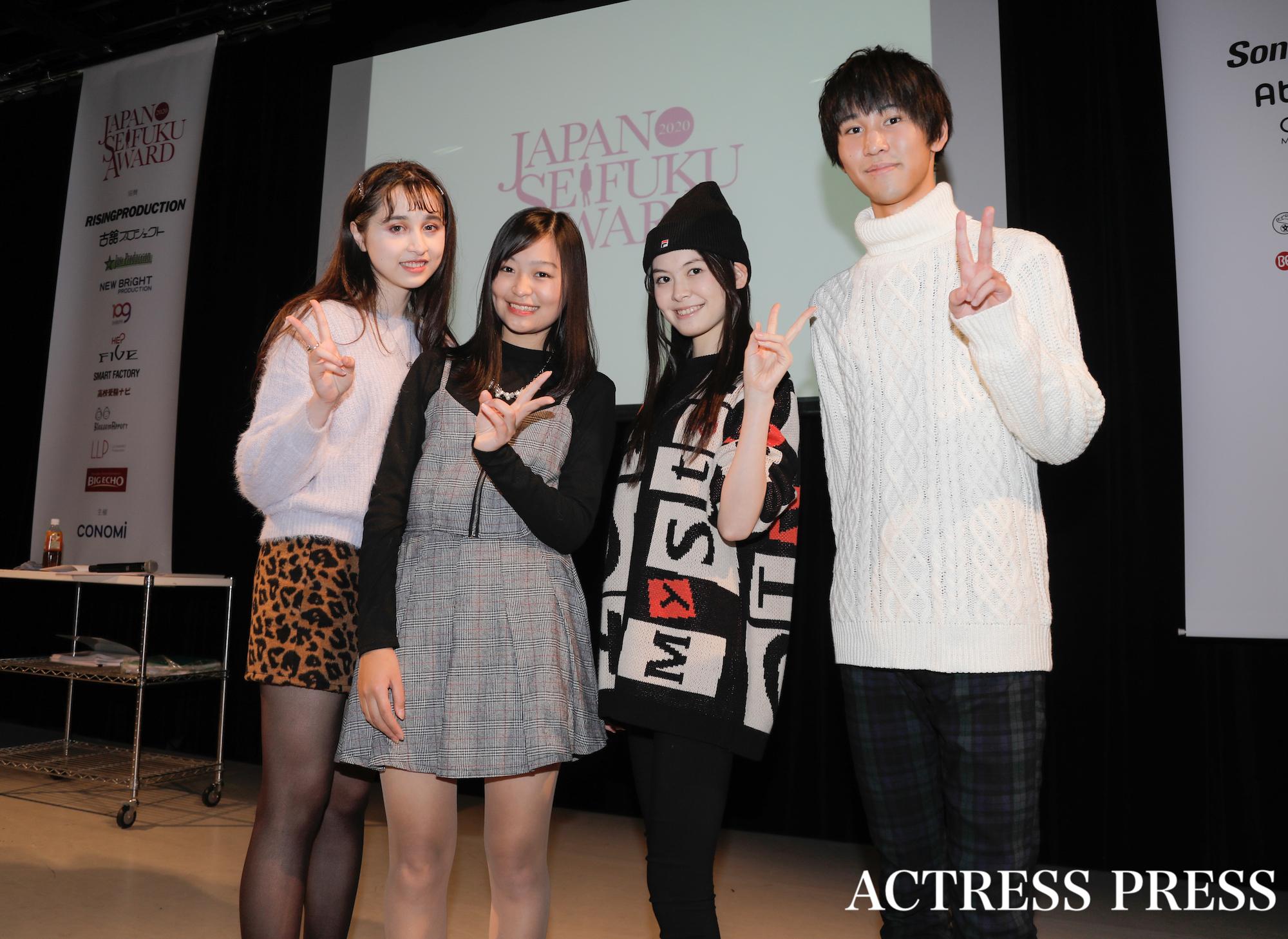 「第7回日本制服アワード」リハーサルにて(2020年2月1日):撮影:ACTRESS PRESS編集部