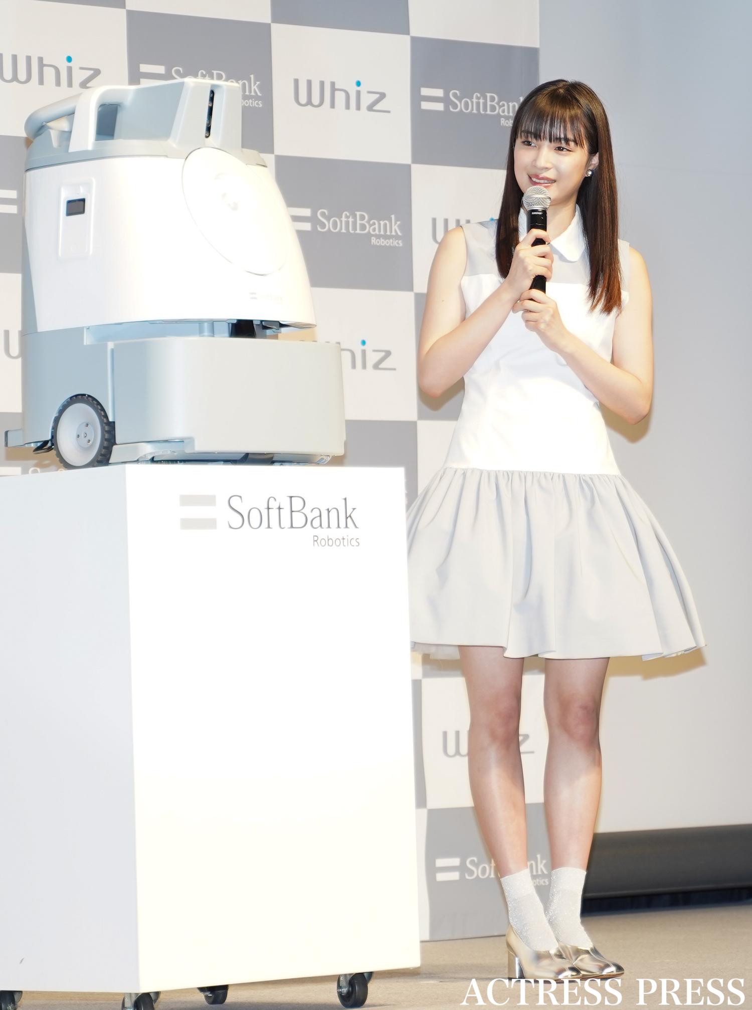 広瀬すず/AI清掃ロボット「Whiz」新キャンペーン発表会にて(2020年2月3日、渋谷ストリームホールにて)/:撮影:ACTRESS PRESS編集部