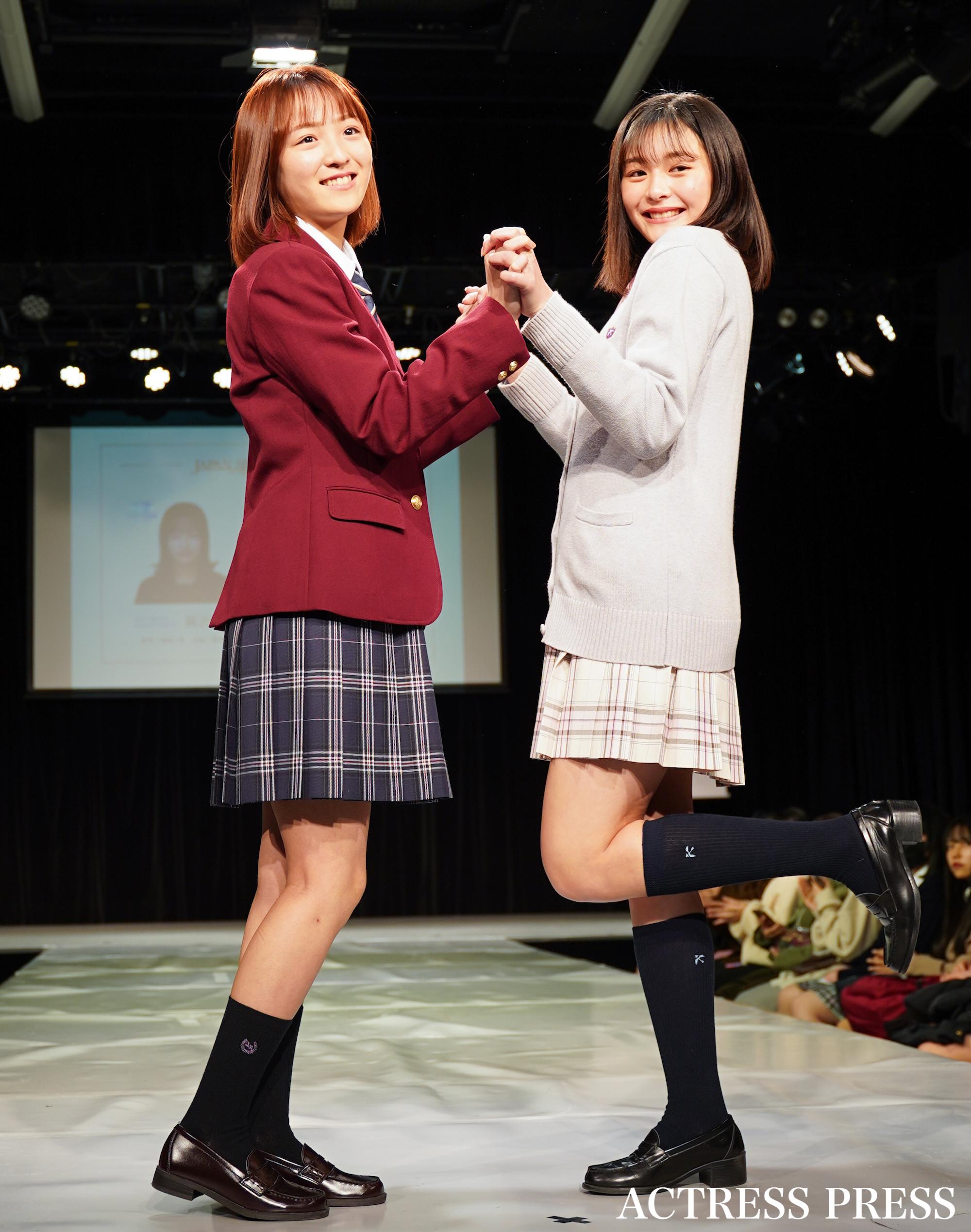 高沢朋花、りの/「第7回日本制服アワード」にて(2020年2月2日):撮影:ACTRESS PRESS編集部