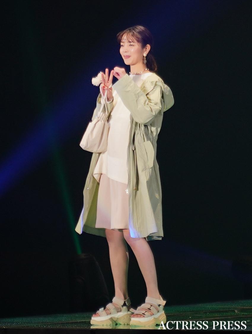 横田真悠/2020年2月29日、国立代々木競技場 第一体育館にて開催された「マイナビ TOKYO GIRLS COLLECTION2020 S/S」にて。撮影:ACTRESS PRESS編集部