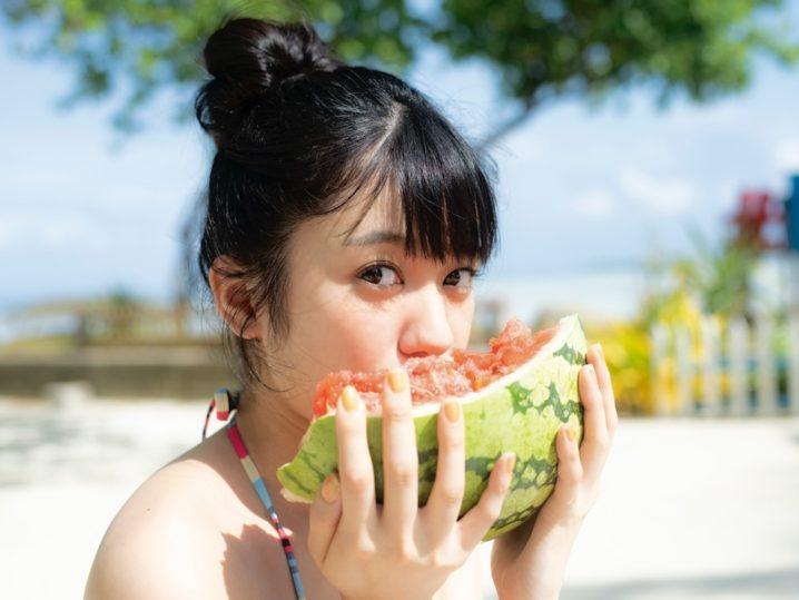 大西桃香(AKB48チーム8)1st写真集『夢の叶えかた。』スイカ